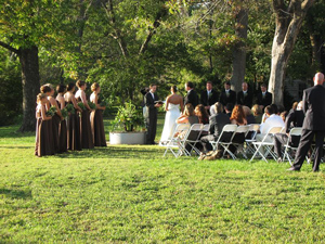 Wedding Ceromony at Locust Grove